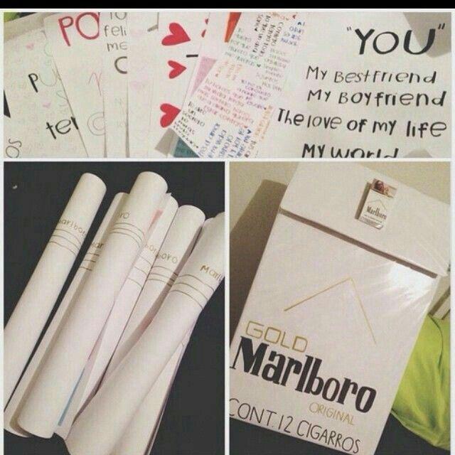 Cartas en forma de cigarros