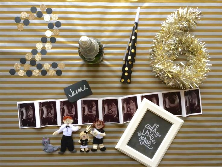 New Year's Eve pregnancy announcement | Stop-motion video baby announcement www.cottentales.com