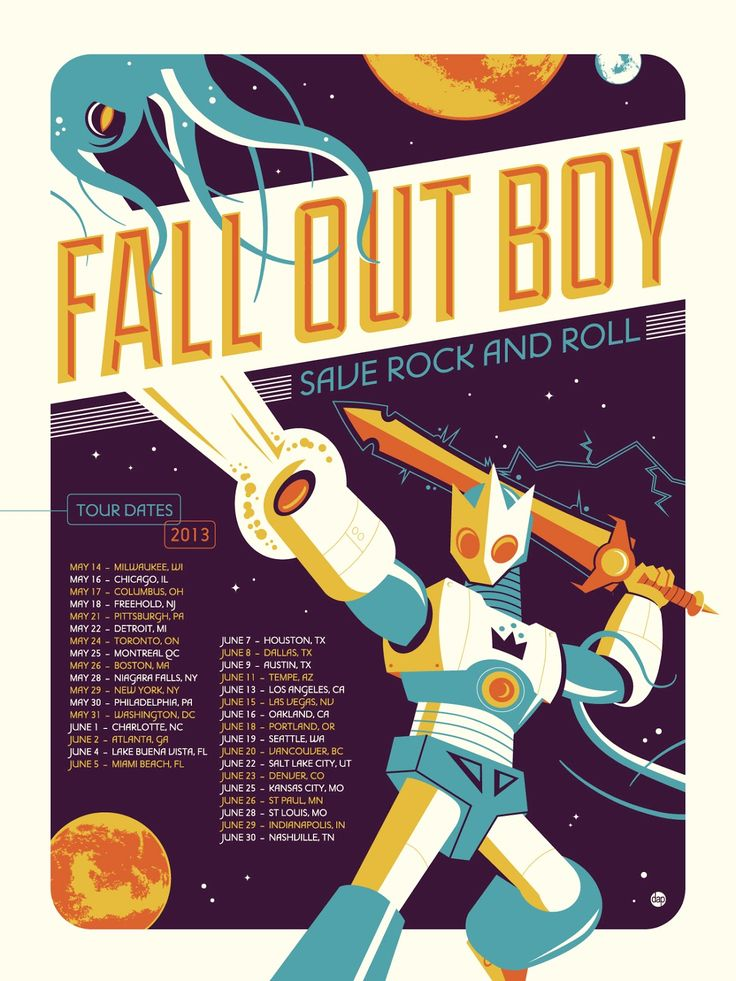 This is a very cool example of concert posters as art. You can buy the poster directly from Dave here.