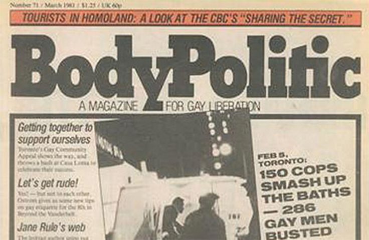 The Body Politic (Magazine) | Our Queer History | Queer History