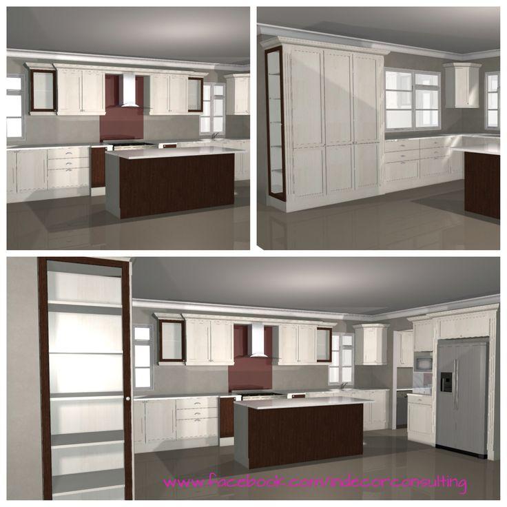 3D Kitchen Design for a client in Franschoek, Franschoek Estate