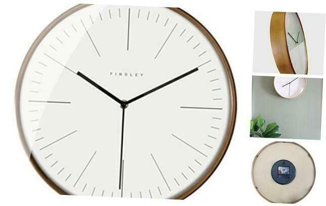 Findley Modern Wall Clock Silent Non Ticking 12 Inch Decorative Clock Wall Dec In 2020 Wall Clock Silent Wall Clock Clock Decor