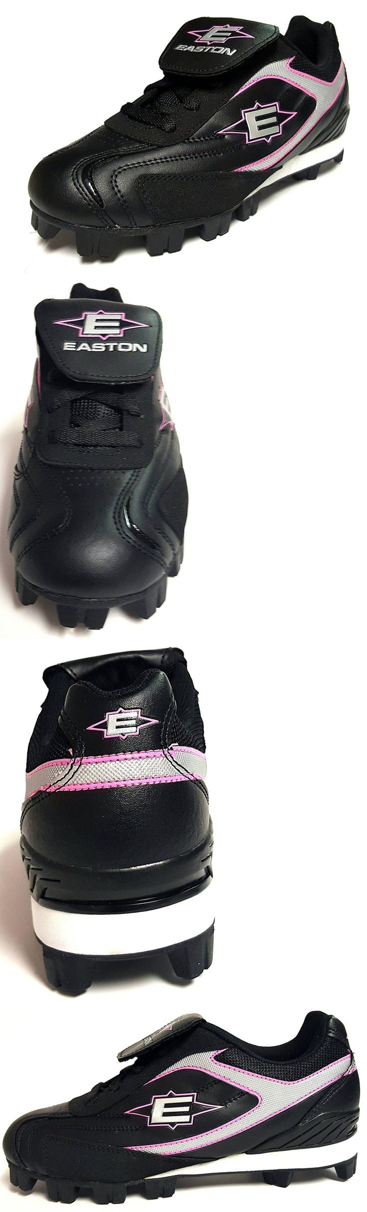 Womens 159060: Softball Cleats - Easton Women S Redline Lo, Black Silver Pink -> BUY IT NOW ONLY: $31.99 on eBay!