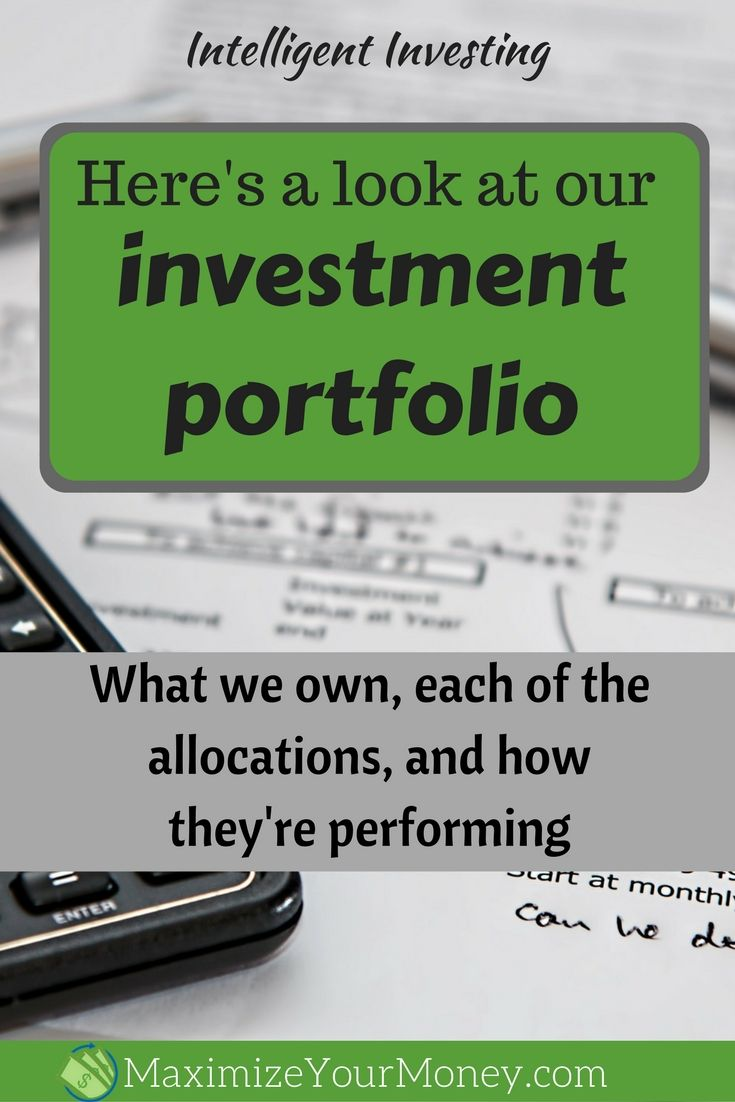 Here's what our investment portfolio looks like via @maximizemoney