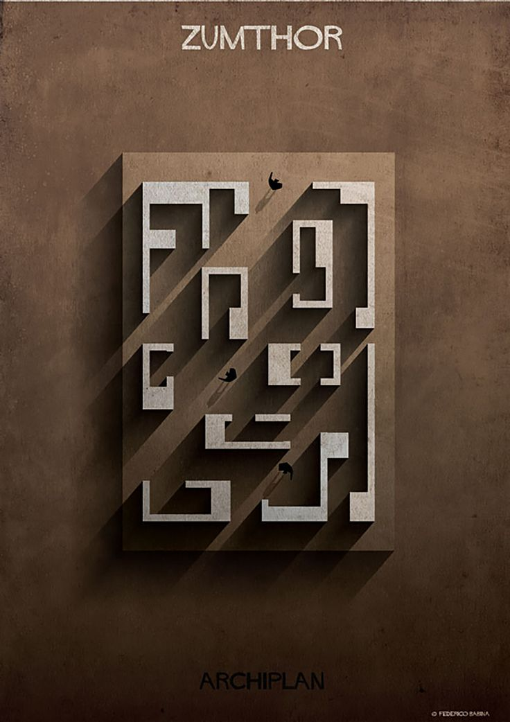 federico babina dissects famous floor plans as architectural labyrinths…