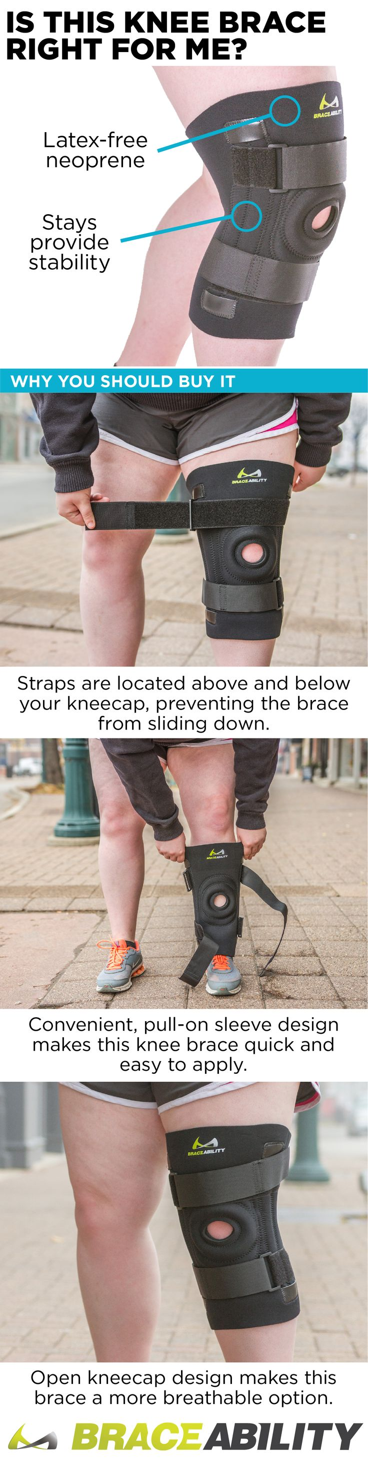 This knee brace for overweight or obese people with big legs and thighs has an easy, slip-on design and is comfortable to wear all day. This bariatric patella support helps to treat Grade I collateral ligament sprain, patellar subluxation, chondromalacia, patellar tendonitis, patellofemoral tracking dysfunction, patellar dislocation, quadricep tendonitis, plica syndrome, and several other common knee conditions.