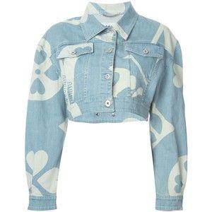 Москино Укороченные Джинсовые Куртки