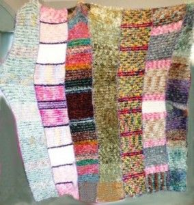 Knitted blankets for Orphans Feather wool 1