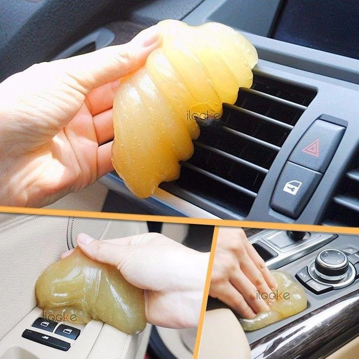 New Yellow Magic Car Vent Air Outlet Storage Box Interior Dust Glue Cleaner Tool Car Glue Clean Panel Door Handle Dust