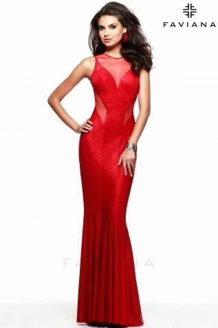 Faviana 7182- Jersey Matte in Red, it does not get much better than this !