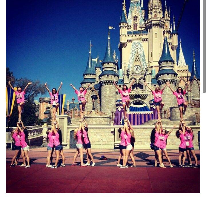 Stunting at Disney!! So cute!