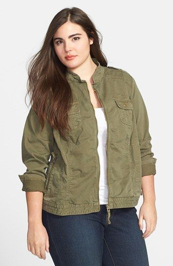 Lucky Brand Military Field Jacket (Plus Size) available at #Nordstrom