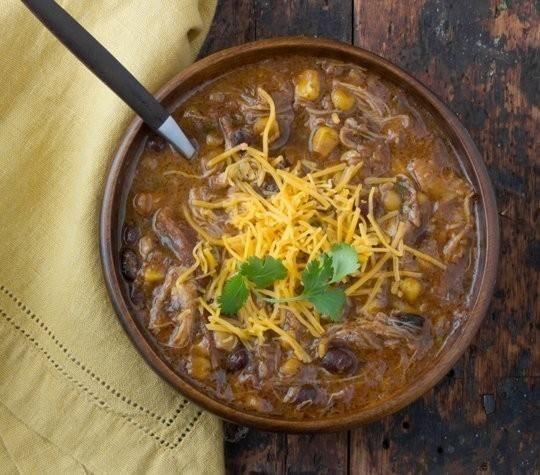 Receita: Fogão lento frango Enchilada sopa