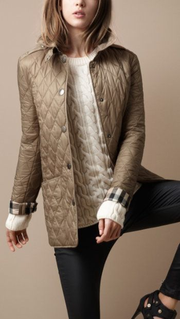 Burberry Quilted Jacket... Christmas is around the corner!