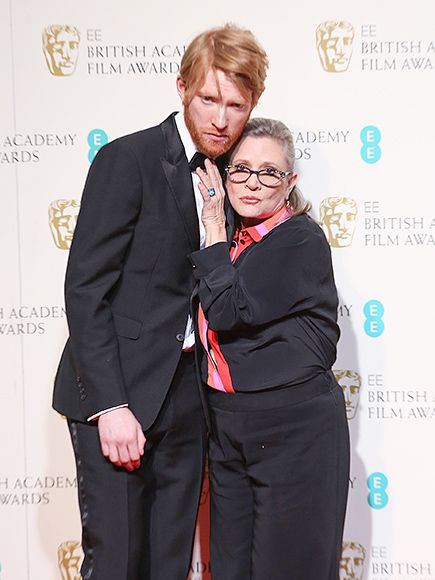 Star Wars Domhnall Gleeson and Carrie Fisher. BAFTAs 2016: Red Carpet Photos : People.com