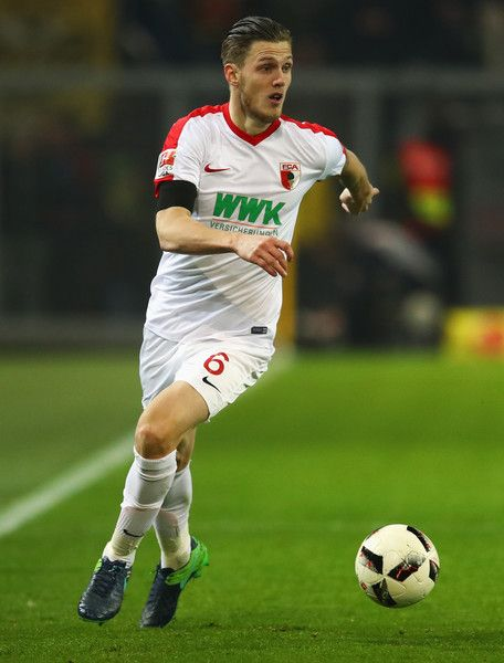 Jeffrey Gouweleeuw of FC Augsburg in action during the Bundesliga match between Borussia Dortmund and FC Augsburg at Signal Iduna Park on December 20, 2016 in Dortmund, Germany.