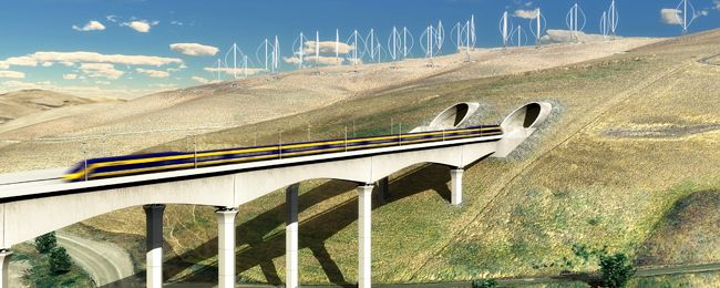 Visualization of California High-speed Rail train