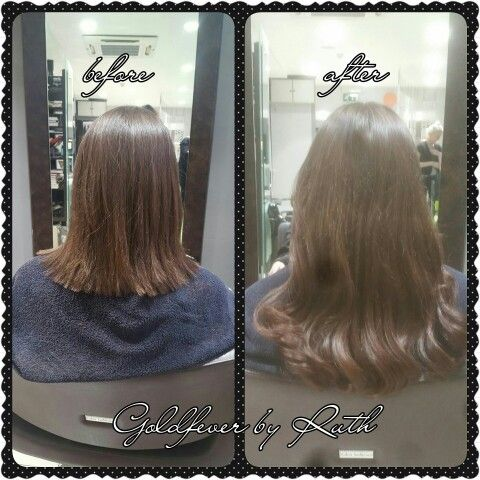 Before and after.  Goldfever hair extensions @ Kieran O'Gorman's kilkenny