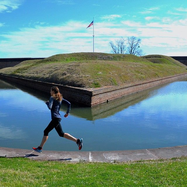 Running at Fort Pulaski is so serene! Definitely try it when you visit!