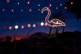 Meredith Music Festival pink flamingo bar