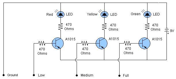 Water level indicator sensor circuit | Free Electronics ...