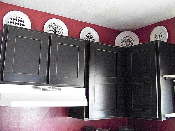 Picture frame cabinet doors!!! Cool and much cheaper than ore made doors!