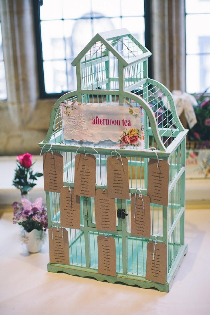 wedding table plan birdcage