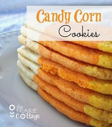 the Prairie Cottage :: Candy Corn Sugar Cookies. Make Ahead Holiday Recipes Day 3