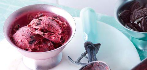Pflaumen-Cookies-Eis mit Zimt