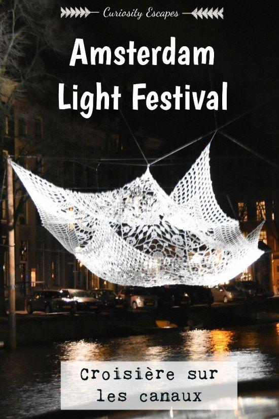 Le Festival des Lumières d'Amsterdam vu par les canaux