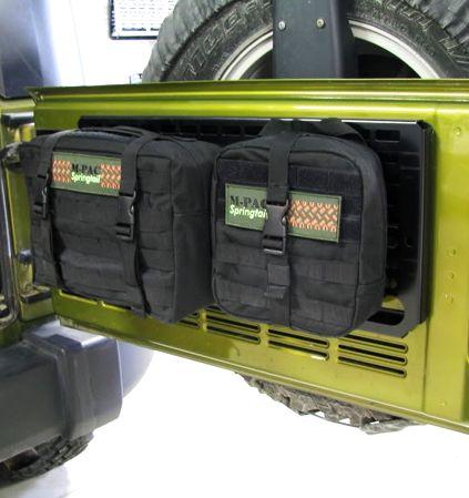Jk Rear Door Mpac Rack No Pouches 179 99 Springtail