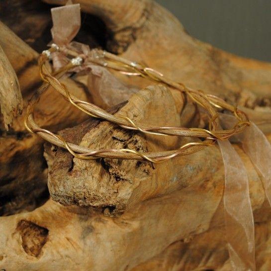 Vintage Χειροποίητα Στέφανα Γάμου Ξύλινα Χρυσή & Ροζ Χρυσή Βέργα http://nedashop.gr/gamos/stefana-gamoy/ksylina-stefana-gamoy-ashmenia-epixrysomenes-verges