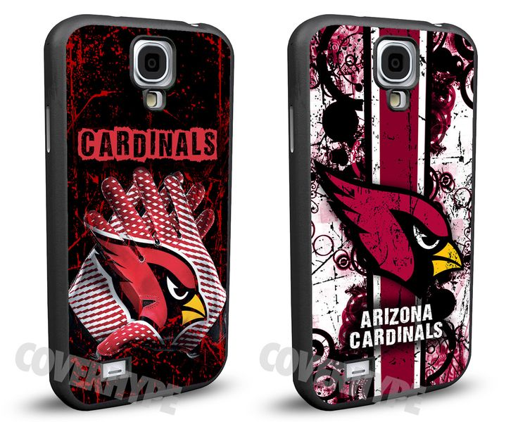 Arizona Cardinals Cell Phone Hard Case TWO PACK for Samsung Galaxy S5, Samsung Galaxy S4 or Samsung Galaxy S4 Mini