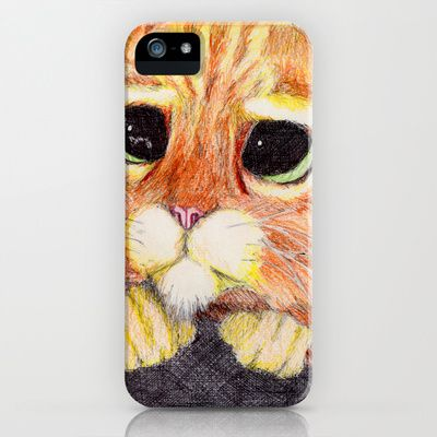Puss In Boots. iPhone & iPod Case by DeMoose - $35.00 Grant Free Shipping + $5 Off New Biker Tanks!