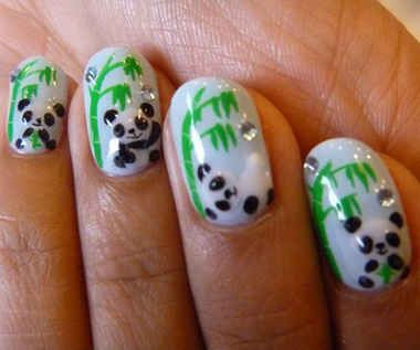 Panda Bears | 14 Insanely Cute Animal Nail Art