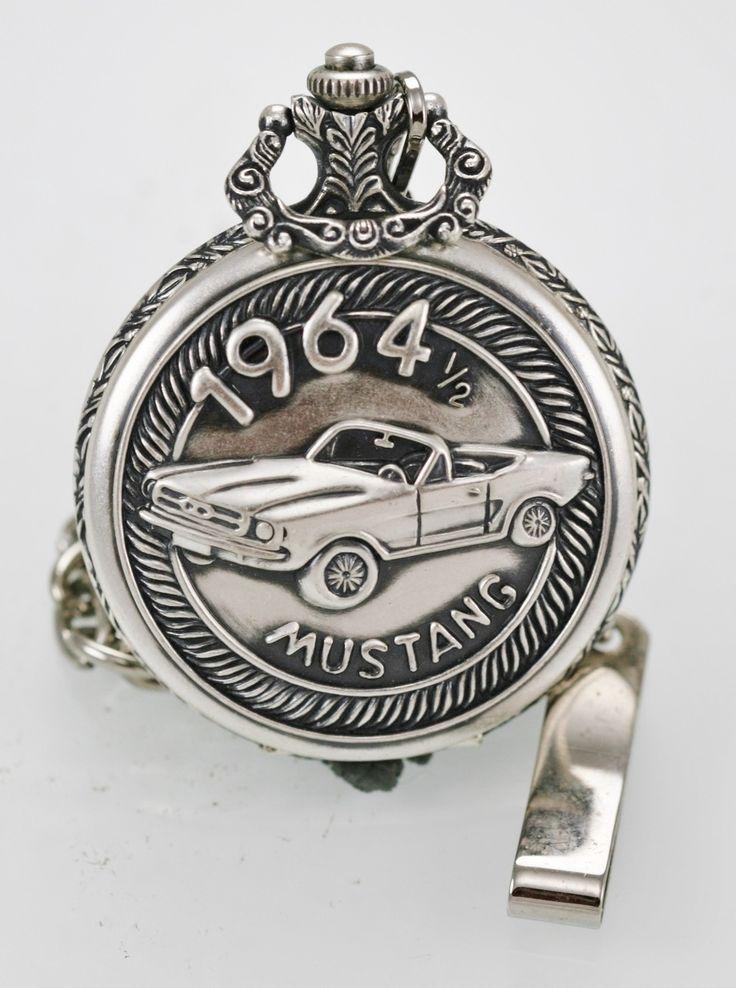 Relic Watch Mens Mustang 1964 1/2 Stainless Steel Silver Battery Pocket Quartz - watch liquidators