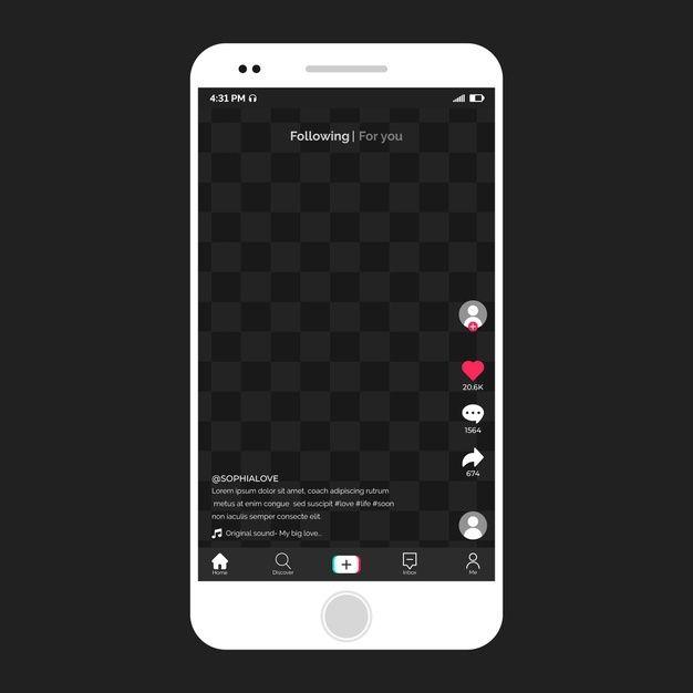 Modern Tiktok Interface On Smartphone Creative Advertising Campaign Mobile App Interface Creative Advertising