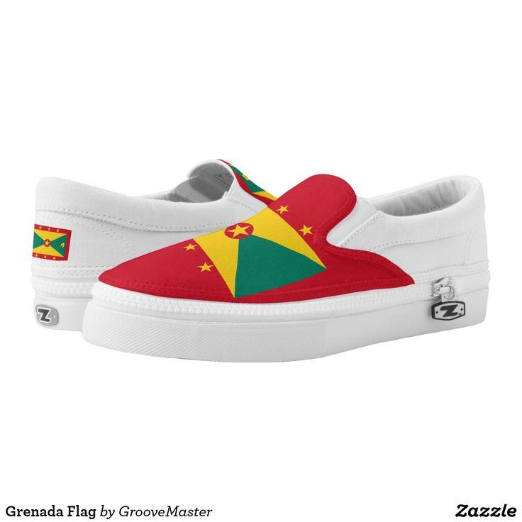 Grenada Flag Slip-On Sneakers