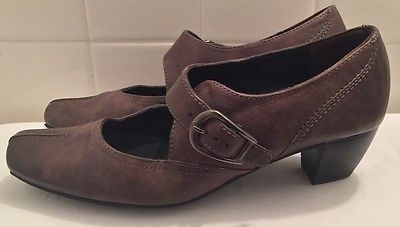 66.74$  Watch now - http://vikae.justgood.pw/vig/item.php?t=eop68wd0946 - Authentic Paul Green Munchen Leather Ladies Shoes Mary-Jane Size 5 Spring Style 66.74$