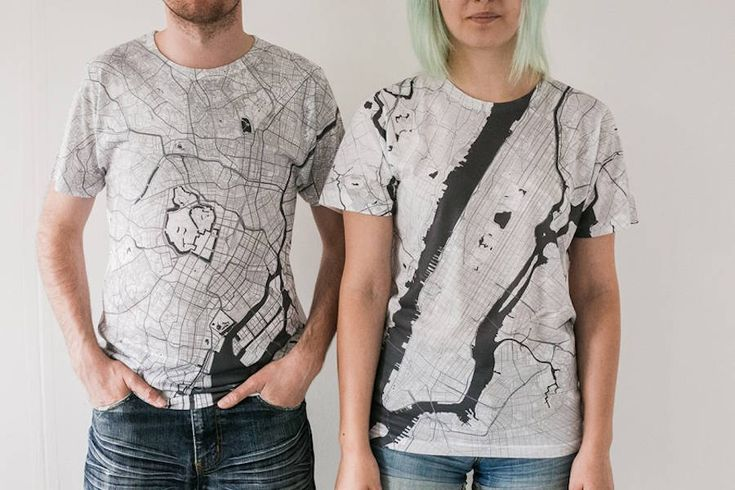 City Maps Printed on T-Shirts
