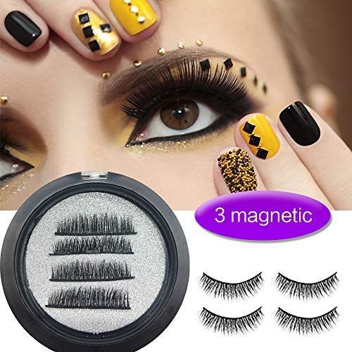 99db5205de2 Perfectostore Magnetic Eyelashes 3 Magnets Magnetic Lashes 3 Lash Magnetic  Fake Eye Lashes 3D Reusable Soft