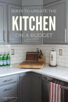 Ways to update the kitchen on a budget. #Tuscankitchens Fun Home Decor Mom