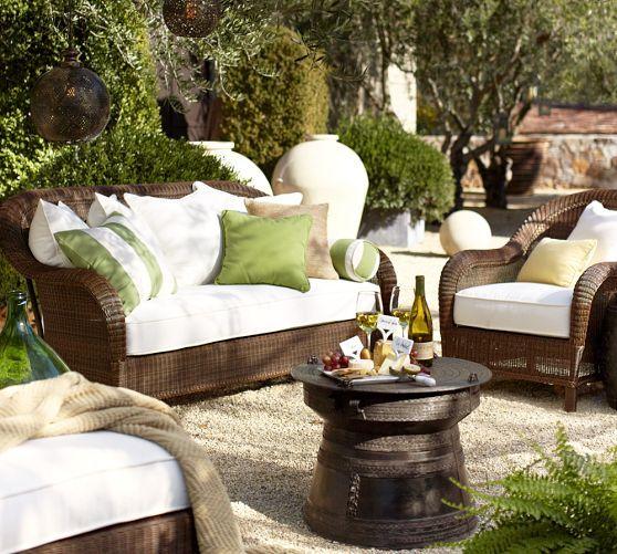 Palmetto All Weather Wicker Sofa   Honey | Pottery Barn · Outdoor RoomsOutdoor  FurnitureOutdoor ...