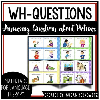 """Answering Wh-questions is a very difficult skill for many children with significant language disorders and complex communication needs to master. While I am a firm believer in my """"Program to Teach Wh-Questions"""" resource found here, some children need additional practice with questions."""