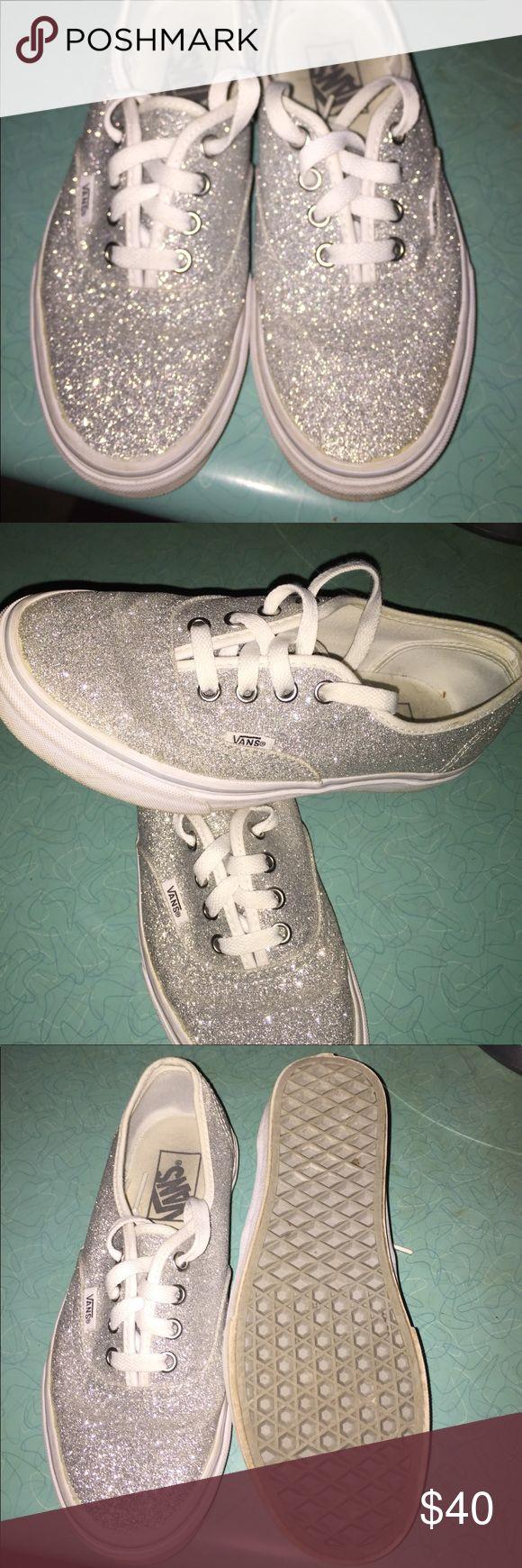 Super cute glitter vans! Excellent condition. Worn once. Size 6.5 Vans Shoes Sneakers