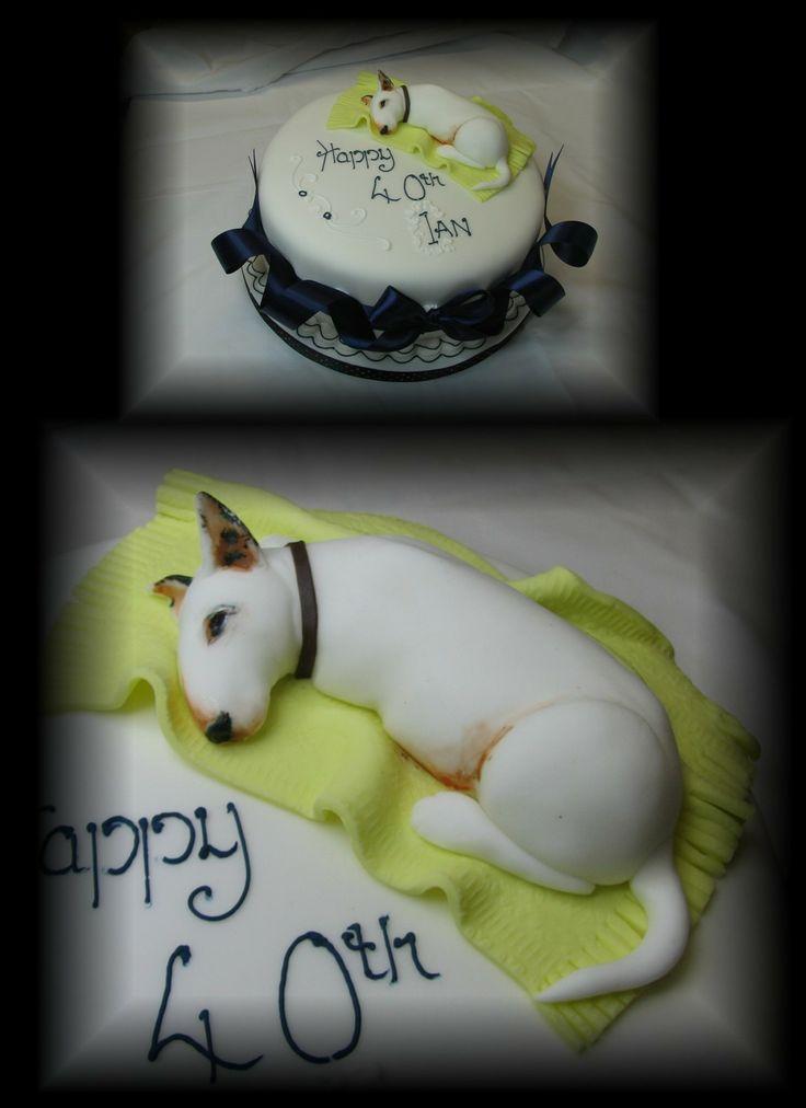 English Bull Terrier Cake www.cakesbymary.co.uk