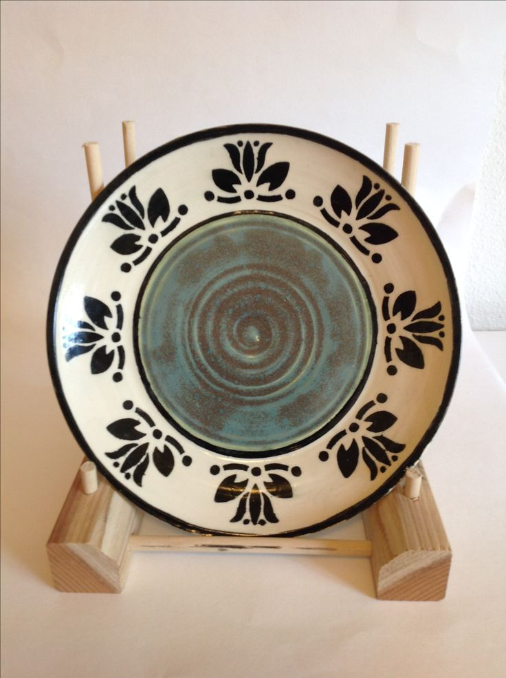 Textured Turquoise patterned plate | Patterned plates ...