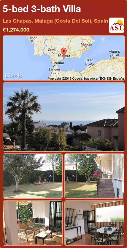 5-bed 3-bath Villa in Las Chapas, Malaga (Costa Del Sol), Spain ►€1,274,000 #PropertyForSaleInSpain