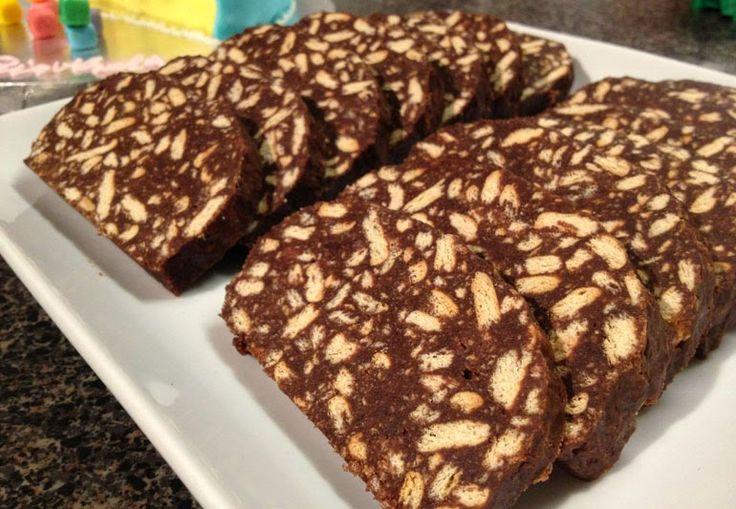 Me Encanta el Chocolate: Receta de salami de chocolate