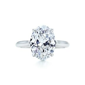 THIS IS IT. THIS IS THE RING I WANT. Tiffany & Co, oval solitaire. I love it. This is perfection.